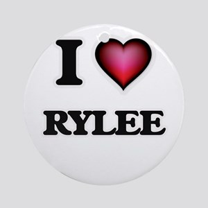 I Love Rylee Round Ornament