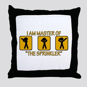 Master Of The Sprinkler Throw Pillow