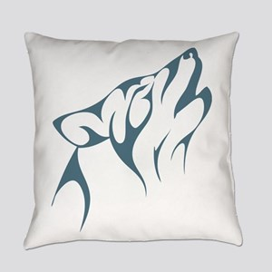 Tribal Wolf Everyday Pillow