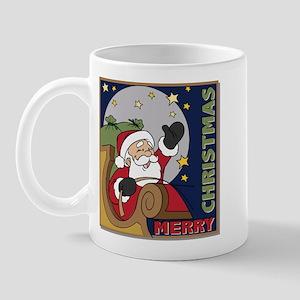 Santa Claus Christmas Square Mug