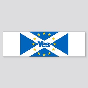 Yes to Independent European Scotlan Bumper Sticker