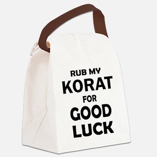 Rub my Korat for good luck Canvas Lunch Bag