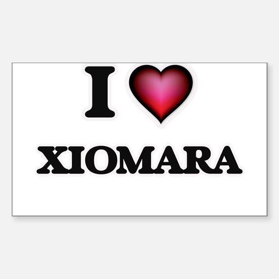 I Love Xiomara Decal