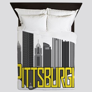 Pittsburgh City Colors Queen Duvet