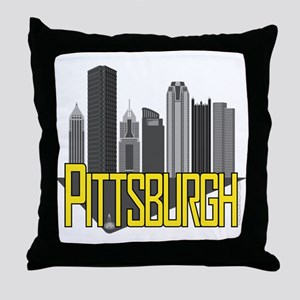 Pittsburgh City Colors Throw Pillow