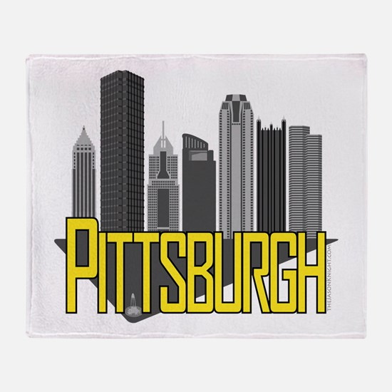 Pittsburgh City Colors Throw Blanket