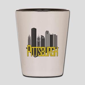Pittsburgh City Colors Shot Glass