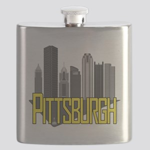 Pittsburgh City Colors Flask