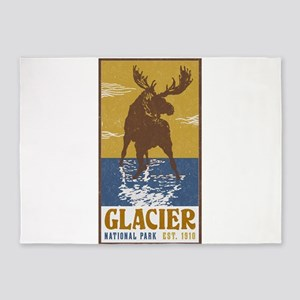 Glacier_National_Park_Moose 5'x7'Area Rug