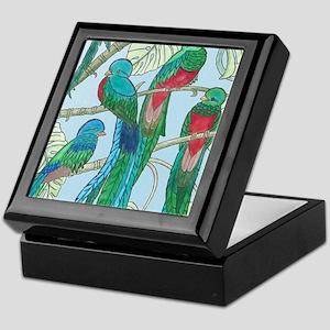 Quetzal Birds Watercolor Keepsake Box