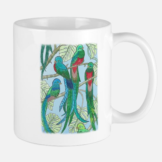 Quetzal Birds Watercolor Mugs