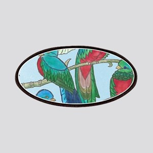 Quetzal Birds Watercolor Patch