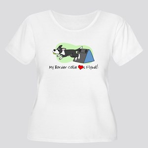 Border Collie Flyball Women's Plus Size T Shirt