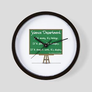Science Dept Wall Clock