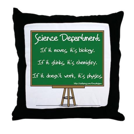 Science Dept Throw Pillow