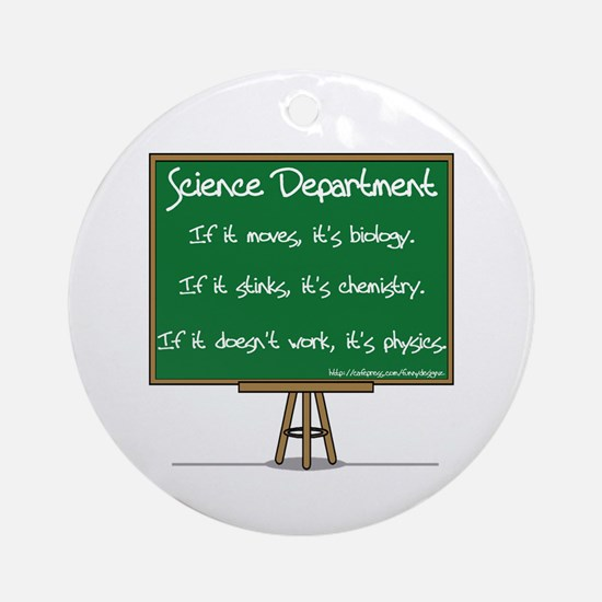 Science Dept Ornament (Round)