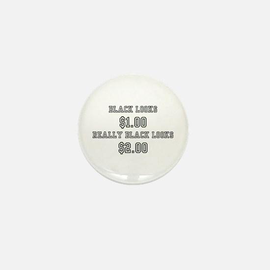BLACK LOOKS $1.00 - REALLY BLACK LOOKS Mini Button