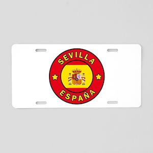 Sevilla Espana Aluminum License Plate