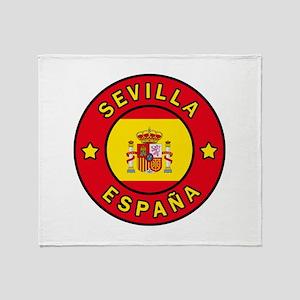 Sevilla Espana Throw Blanket