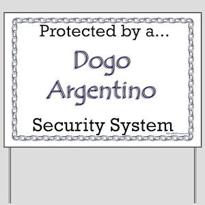 Dogo Security Yard Sign