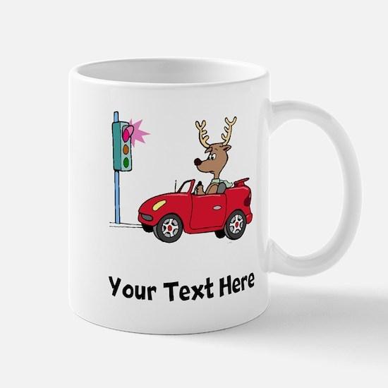Deer At Red Light (Custom) Mugs