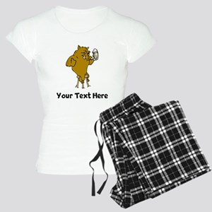 Boar Drinking Beer (Custom) Pajamas