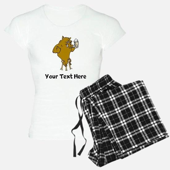 Boar Drinking Beer (Custom) Pajamas