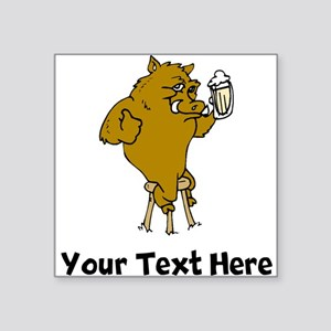 Boar Drinking Beer (Custom) Sticker