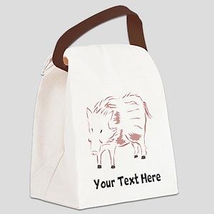 Boar (Custom) Canvas Lunch Bag