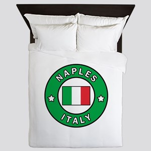 Naples Italy Queen Duvet