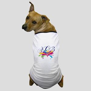 Personalize Initials firework Dog T-Shirt