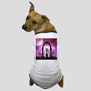 Cute dancing fairy silhouette Dog T-Shirt
