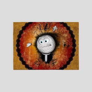 Funny golfball 5'x7'Area Rug
