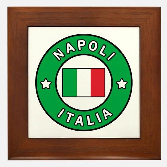 Cute Naples Framed Tile