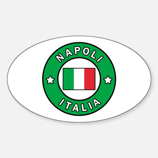 Cute Amalfi coast Sticker (Oval)