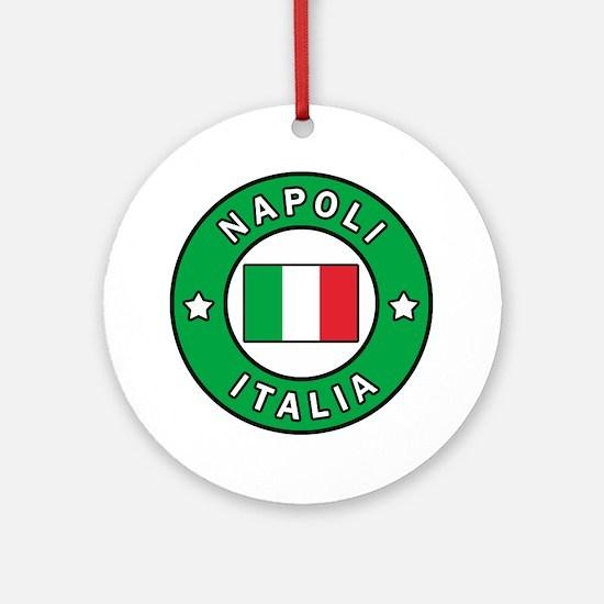 Cute Naples Round Ornament