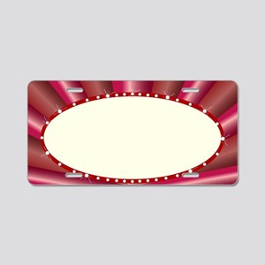 Oval Cinema Style Marquee Aluminum License Plate