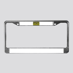 Caution Area Under Constructio License Plate Frame