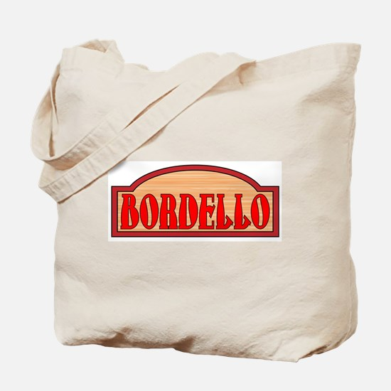Wooden Bordello Sign Tote Bag