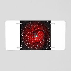 Black Hole Background Aluminum License Plate