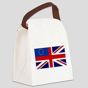UK-EU flag Canvas Lunch Bag