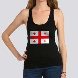 Flag Of The Country Of Georgia Racerback Tank Top