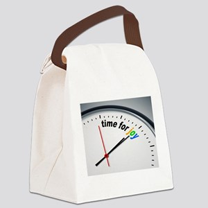 Time for joy Canvas Lunch Bag