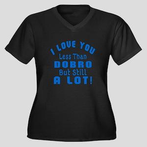 I Love You L Women's Plus Size V-Neck Dark T-Shirt