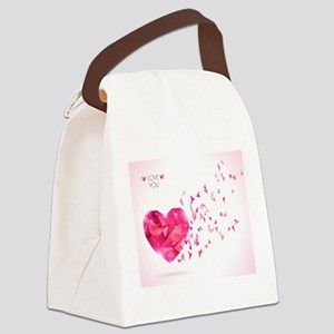 love You Canvas Lunch Bag