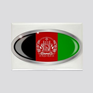 Afghanistan Flag Oval Button s Magnets