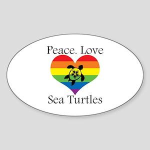 Peace. Love. Sea Turtles Sticker