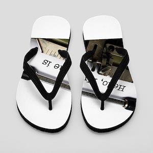 Hello, My name is... Flip Flops