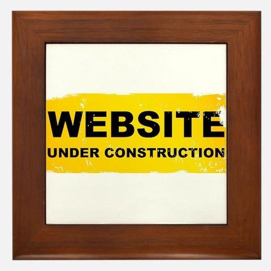 Website Under Construction Framed Tile