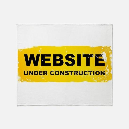 Website Under Construction Throw Blanket